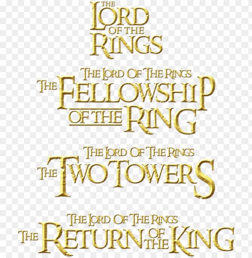 free PNG title the lord of the rings 2 png logo - lord of the ring title PNG image with transparent background PNG images transparent