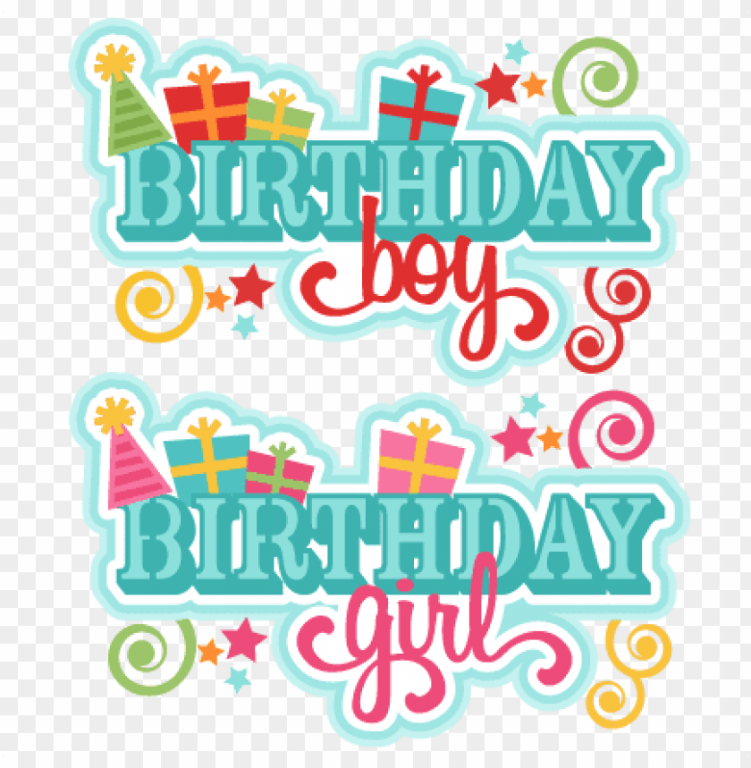 free PNG titles svg scrapbook cut file cute files - birthday girl cut out PNG image with transparent background PNG images transparent