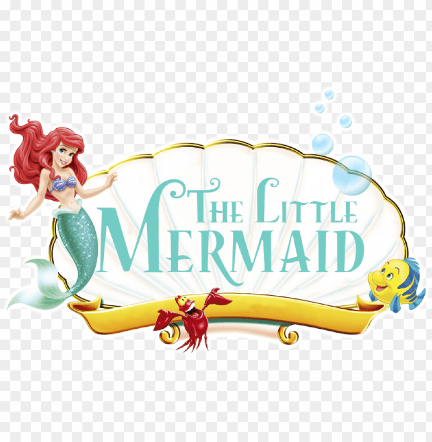 free PNG to little mermaid coloring pages - little mermaid logo PNG image with transparent background PNG images transparent