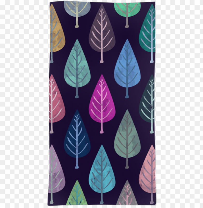 free PNG toalha watercolor forest pattern ii de creative bdna - watercolor forest pattern iv canvas print - small PNG image with transparent background PNG images transparent