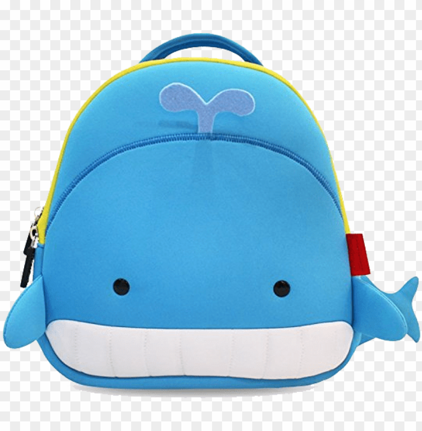 free PNG toddler kids cute cartoon backpack kids' backpacks - whale kids backpack PNG image with transparent background PNG images transparent