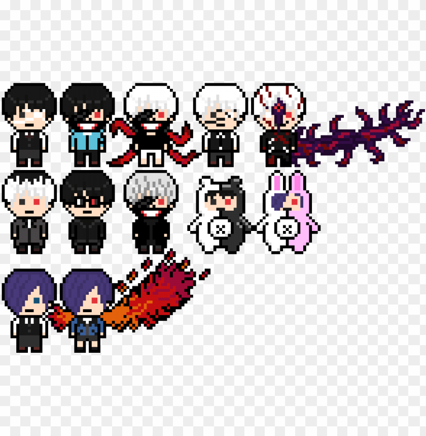 tokyo ghoul danganronpa like pixel arts tokyo ghoul pixel art png image with transparent background toppng tokyo ghoul danganronpa like pixel arts