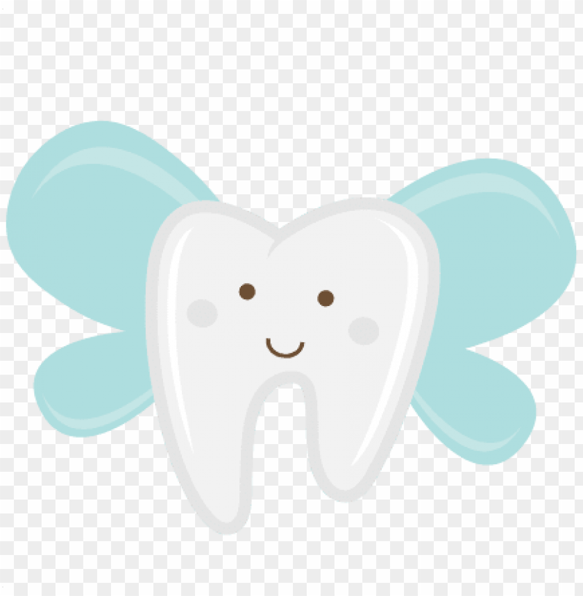 Tooth With Wings Svg Scrapbook Cut File Tooth Fairy Cute Teeth Cartoon Png Image With Transparent Background Toppng