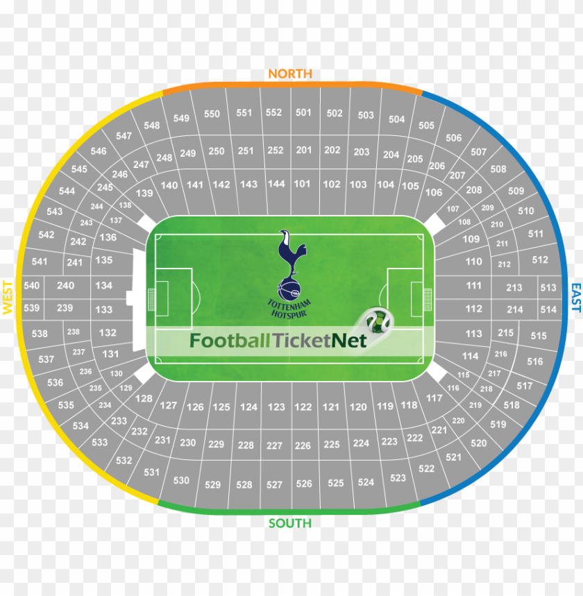 free PNG tottenham hotspur vs watford tickets - football wembley seating pla PNG image with transparent background PNG images transparent