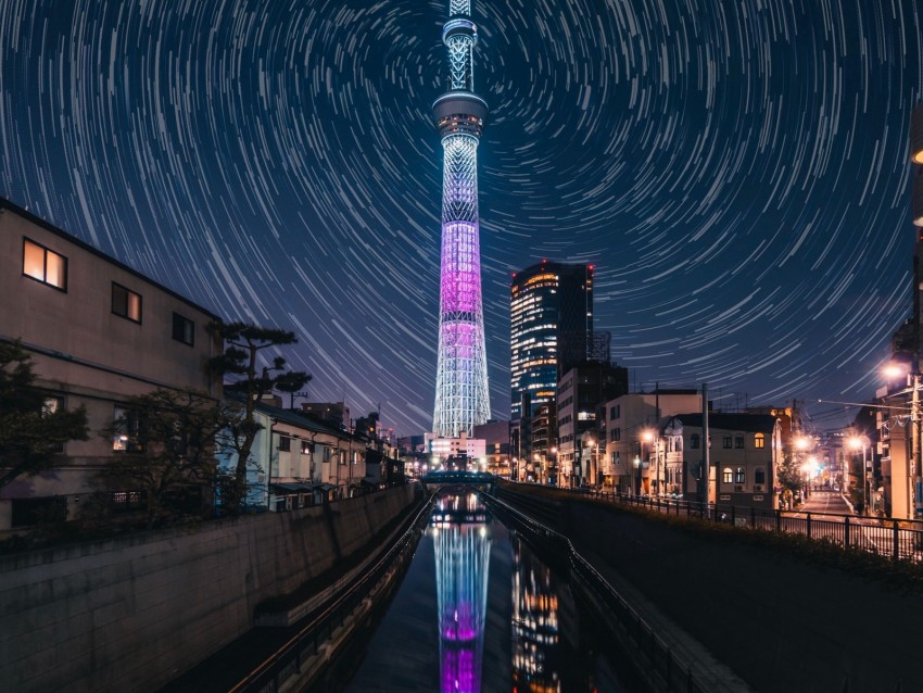 free PNG tower, night city, city lights, architecture, night, tokyo, japan background PNG images transparent