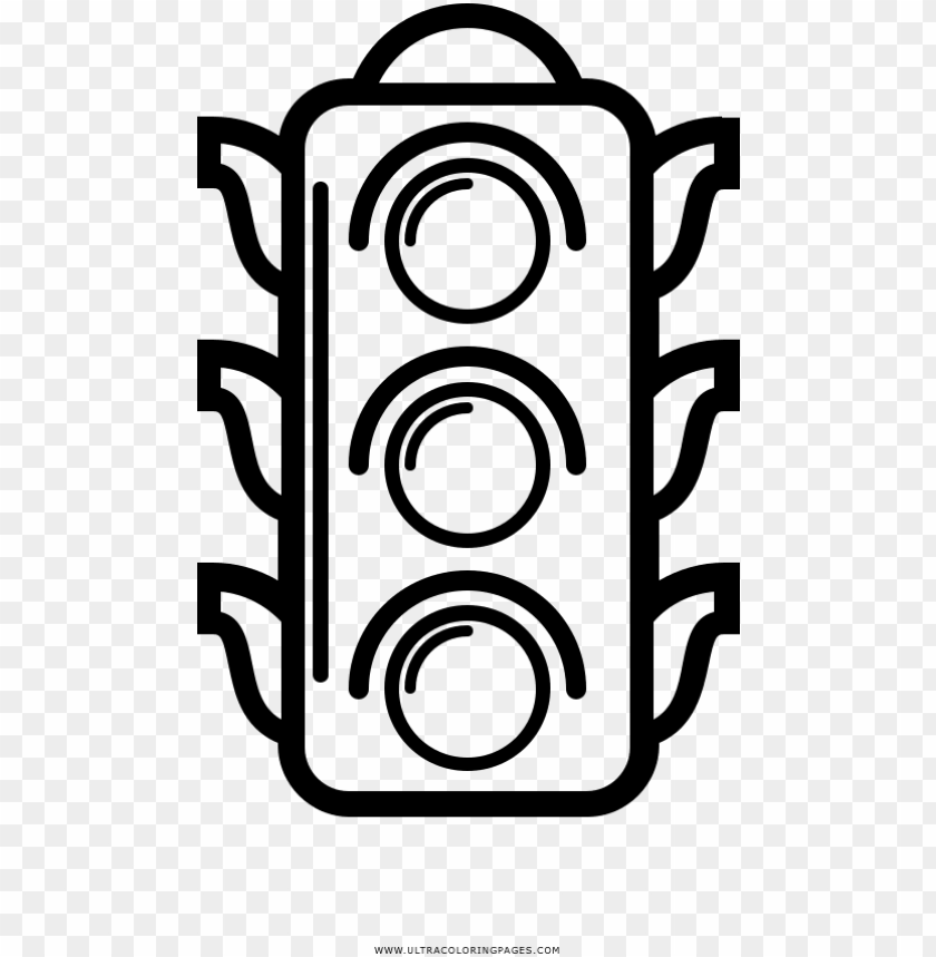 free PNG traffic light coloring page - dibujo de un semaforo para colorear PNG image with transparent background PNG images transparent