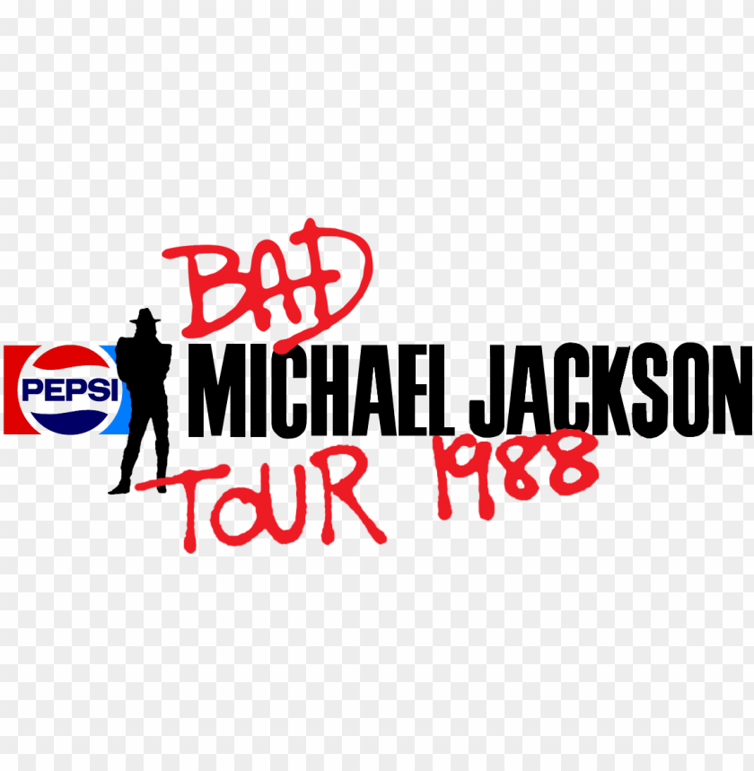 "free PNG "" transparent » bad tour logo "" - michael jackson bad world tour logo PNG image with transparent background PNG images transparent"