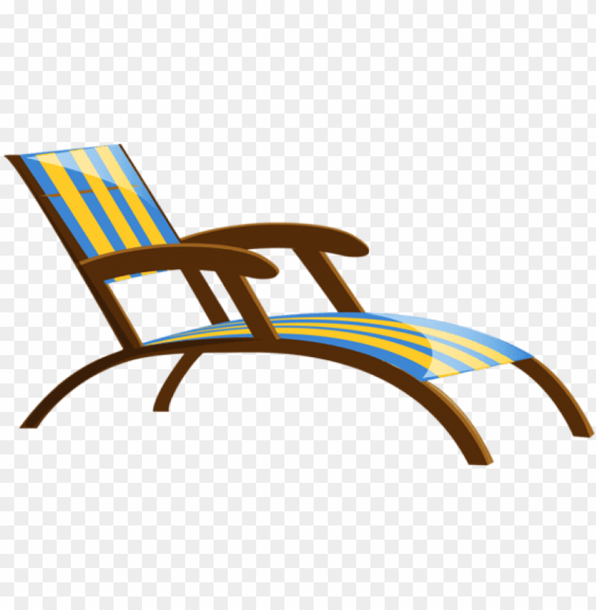 free PNG transparent beach lounge chair png clipart - swimming pool chair PNG image with transparent background PNG images transparent