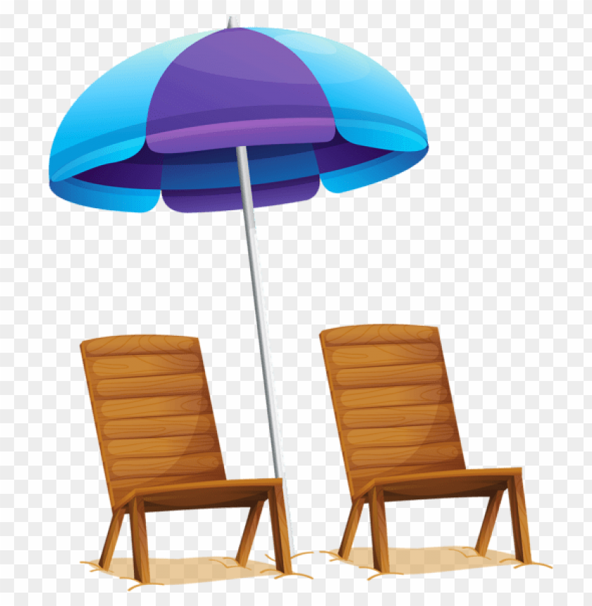 free PNG Download transparent beach umbrella and chairs clipart png photo   PNG images transparent