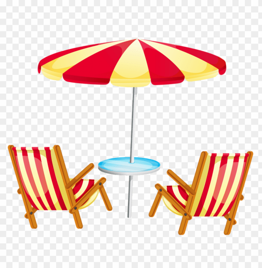 free PNG Download transparent beach umbrella with chairs clipart png photo   PNG images transparent