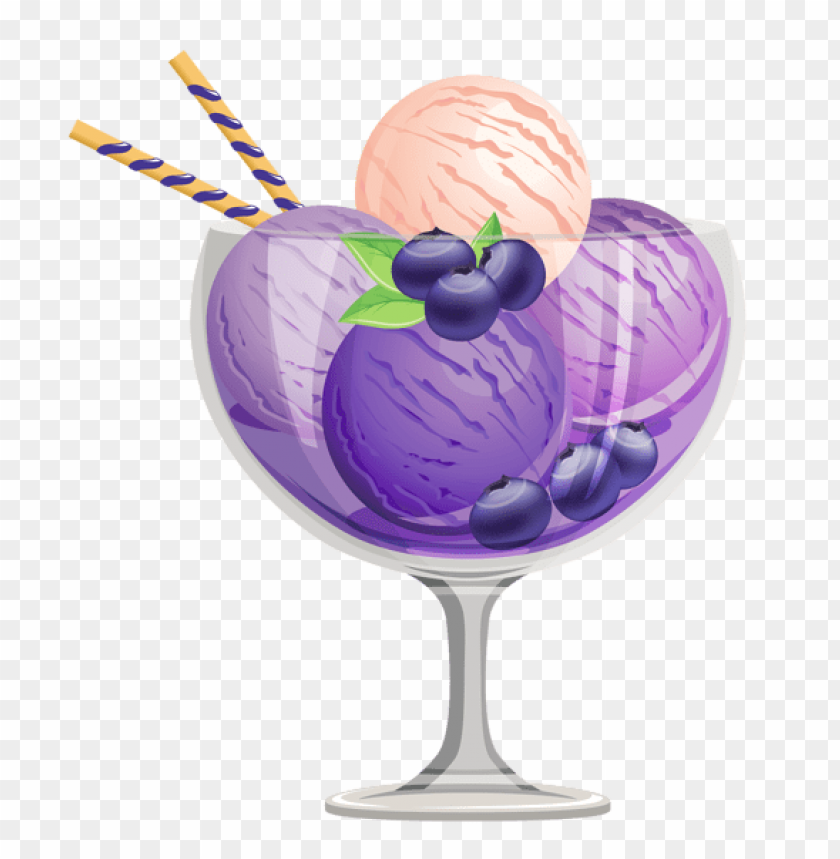 free PNG Download transparent blueberry ice cream sundae png images background PNG images transparent