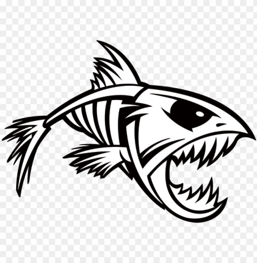 Download Transparent Bones Fish Fish Skeleton Svg Free Png Image With Transparent Background Toppng