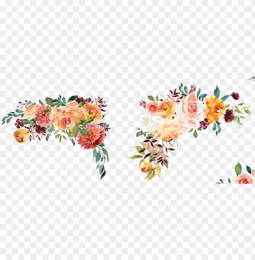 free PNG transparent border watercolor floral - watercolor flower border PNG image with transparent background PNG images transparent