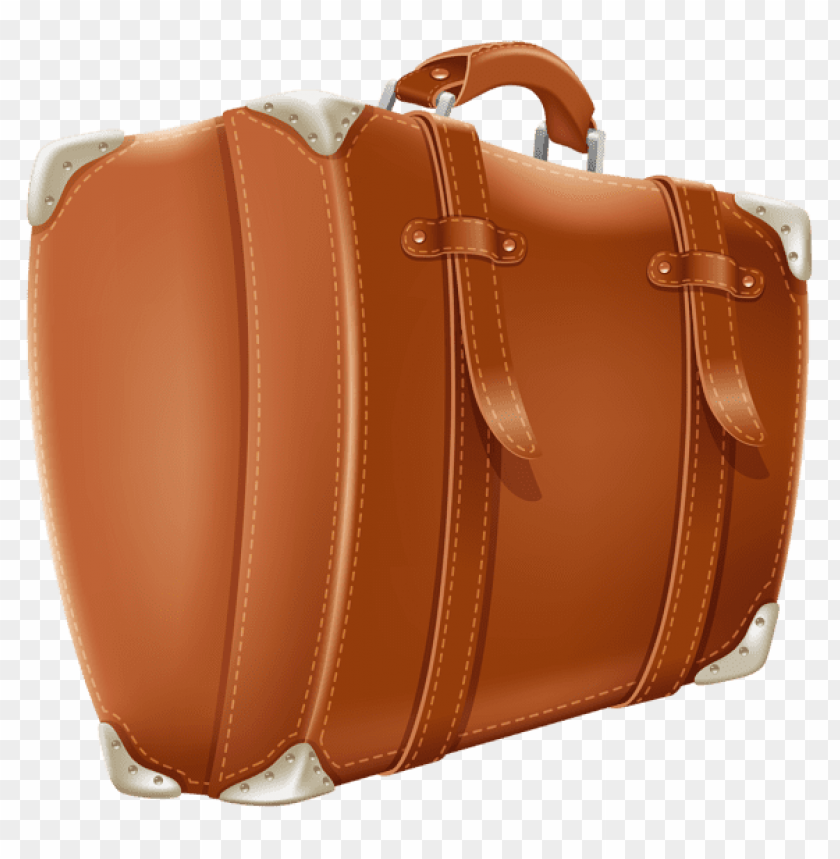 free PNG Download transparent brown suitcasepicture clipart png photo   PNG images transparent