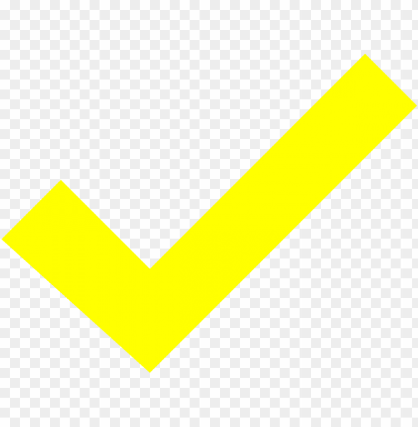 free PNG transparent check yellow green picture royalty free - yellow check mark PNG image with transparent background PNG images transparent