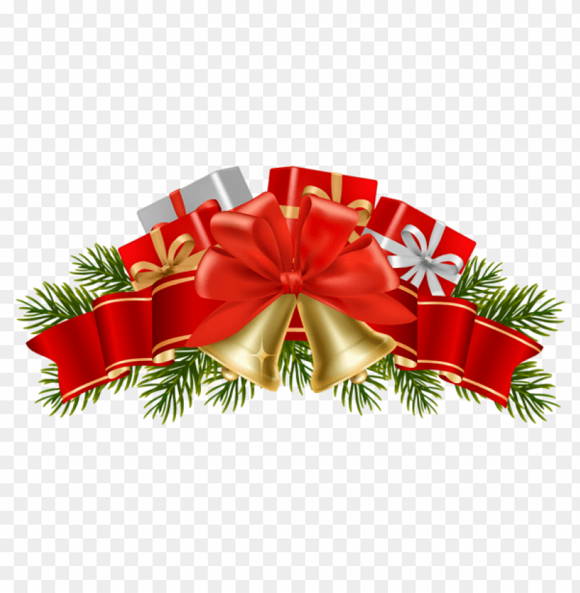 free PNG transparent christmas decor with bells PNG Images PNG images transparent
