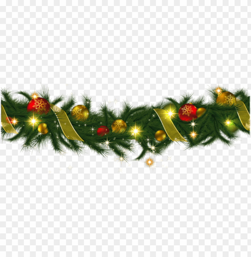 free PNG transparent christmas pine garland with lights png - Free PNG Images PNG images transparent