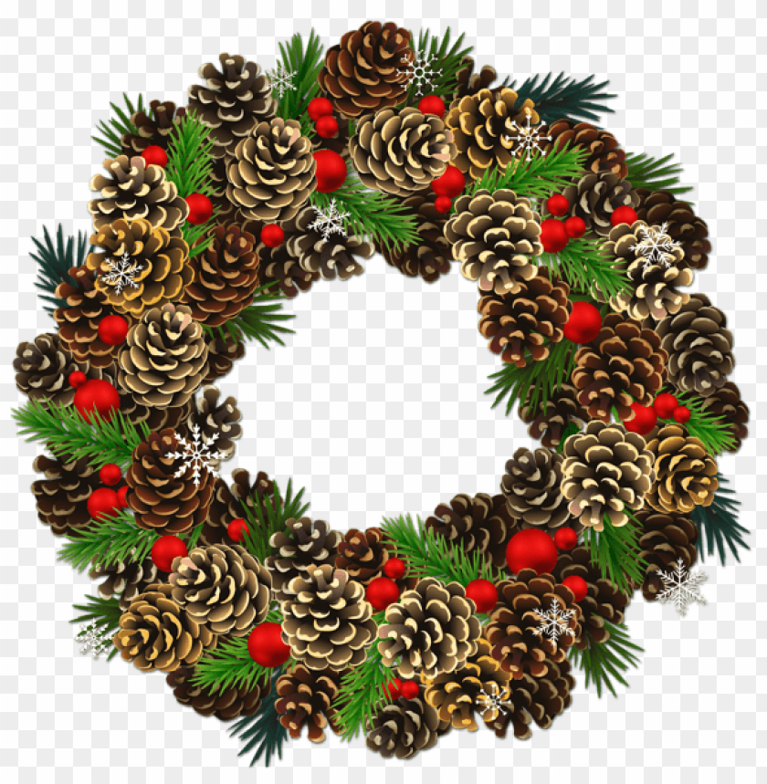 free PNG transparent christmas pinecone wreath PNG Images PNG images transparent