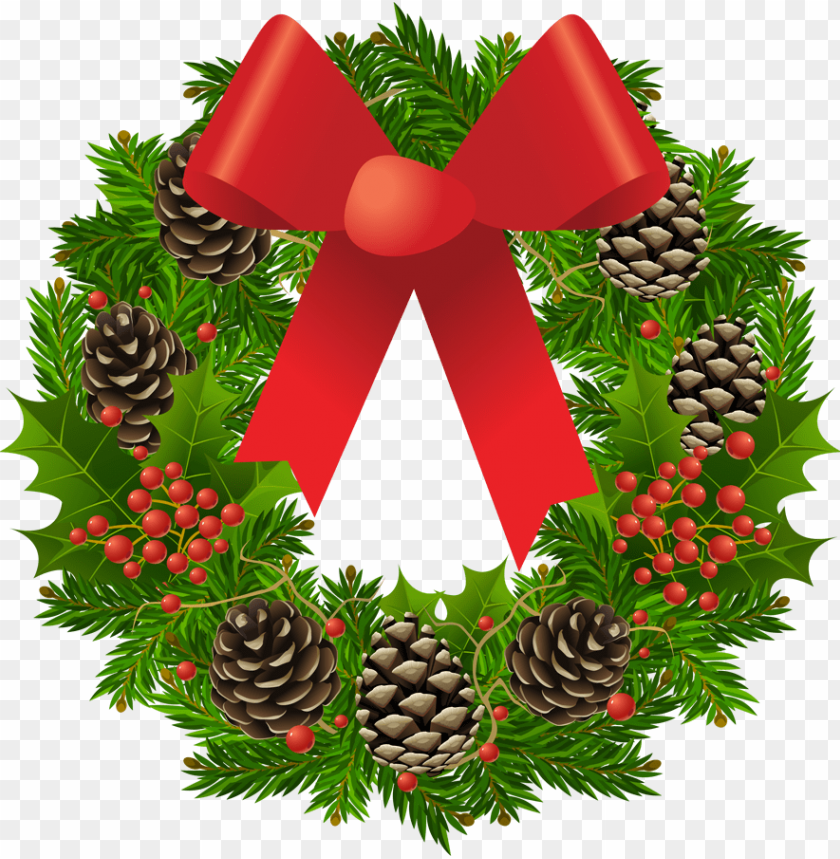 free PNG transparent christmas wreath clipart picture - christmas wreath clipart PNG image with transparent background PNG images transparent