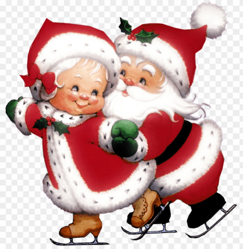 free PNG transparent cute mrs claus and mr claus PNG Images PNG images transparent