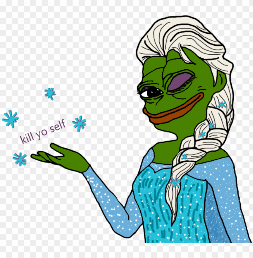 free PNG transparent elsa pepe is telling you your destiny pepe - sjin ttt spray PNG image with transparent background PNG images transparent
