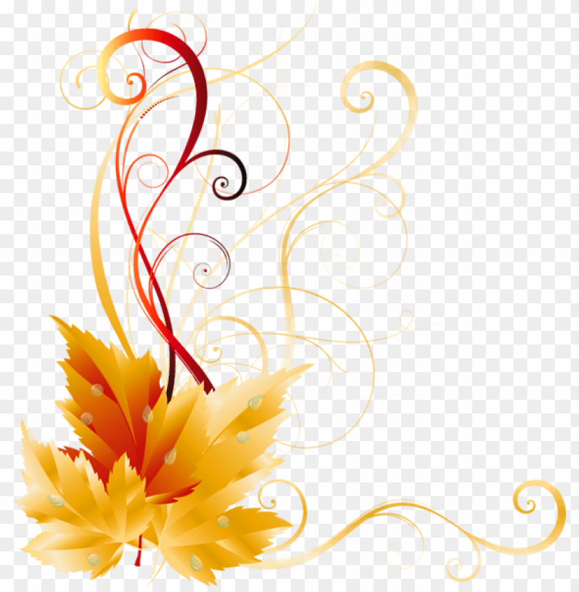 free PNG transparent fall leaves decor picture backgrounds, - side border design PNG image with transparent background PNG images transparent
