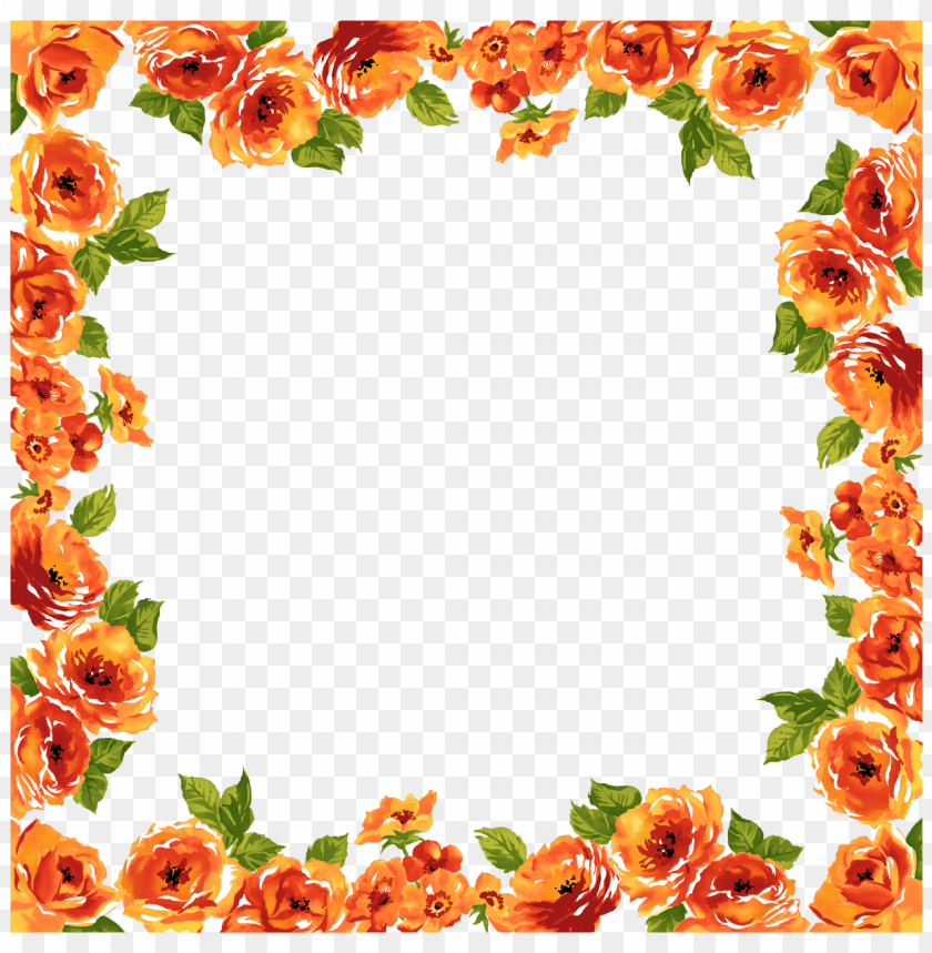 Transparent Flowers Border Png Image With Transparent Background