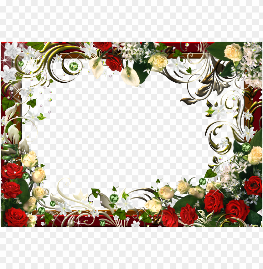 free PNG transparent flowers gallery yopriceville - flowers photo frames PNG image with transparent background PNG images transparent