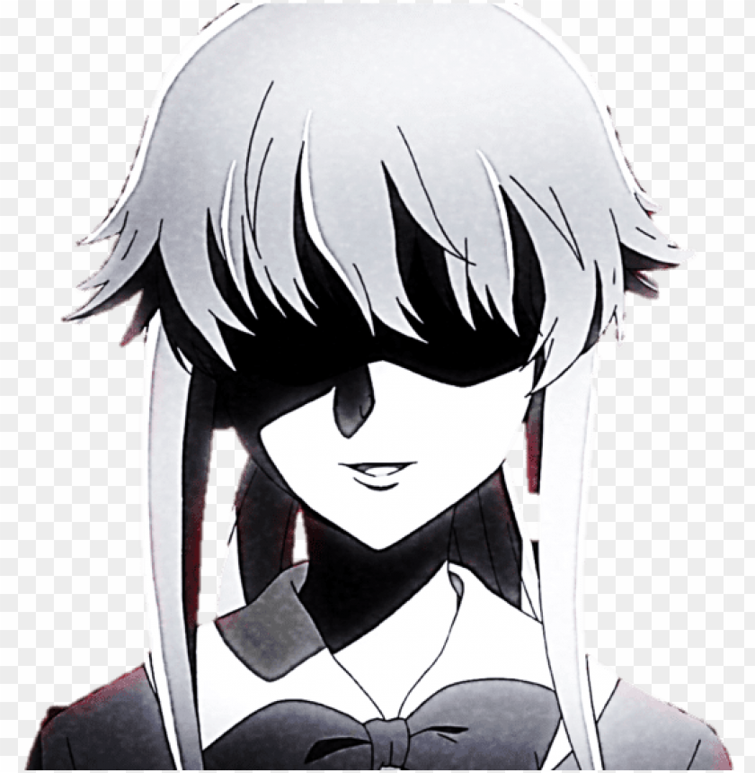 Transparent Gasai Yuno By Jordanalice D6ncfvs Gasai Yuno Black And White Png Image With Transparent Background Toppng