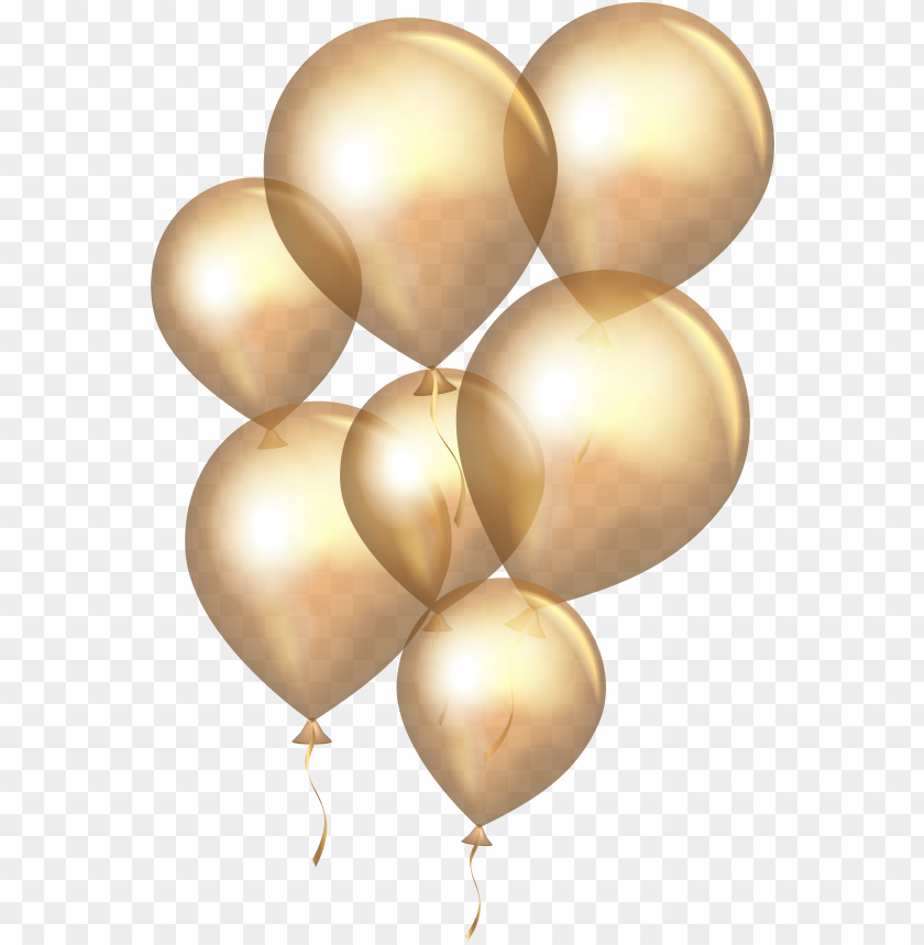 free PNG transparent gold balloons png clip art - gold and silver balloons PNG image with transparent background PNG images transparent