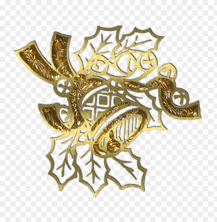 free PNG transparent gold christmas bell decoration PNG Images PNG images transparent