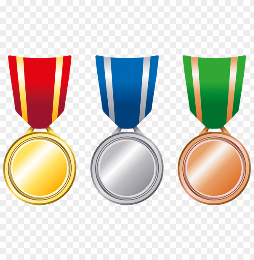 free PNG Download transparent gold silver bronze medals clipart png photo   PNG images transparent