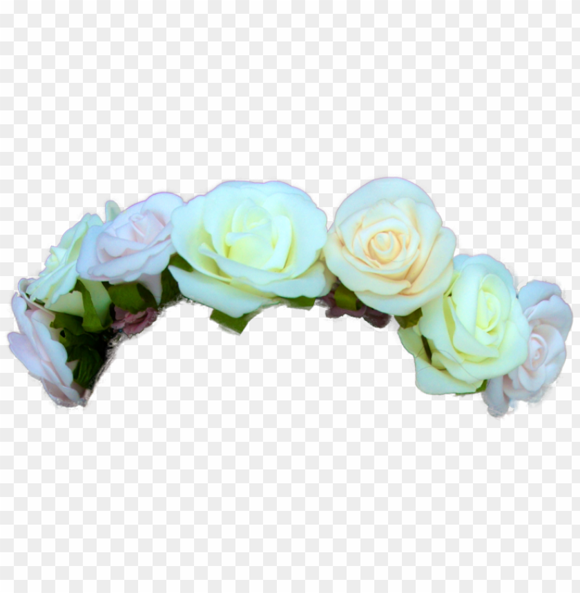 free PNG transparent green flower crown - transparent tumblr flower crow PNG image with transparent background PNG images transparent