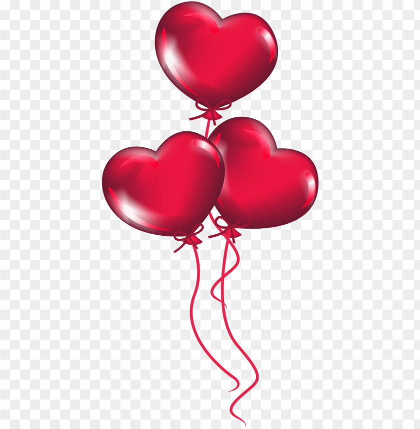 free PNG transparent heart balloons png clipart - heart balloon clipart PNG image with transparent background PNG images transparent