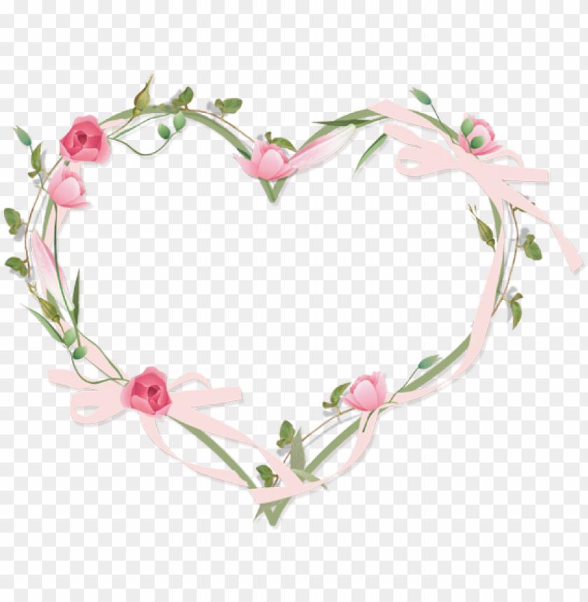 free PNG transparent image - heart flower border PNG image with transparent background PNG images transparent