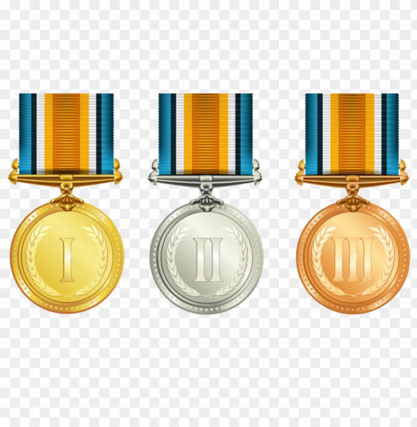 free PNG Download transparent medals set clipart png photo   PNG images transparent