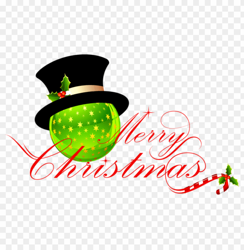 free PNG transparent merry christmas with christmas ornament PNG Images PNG images transparent