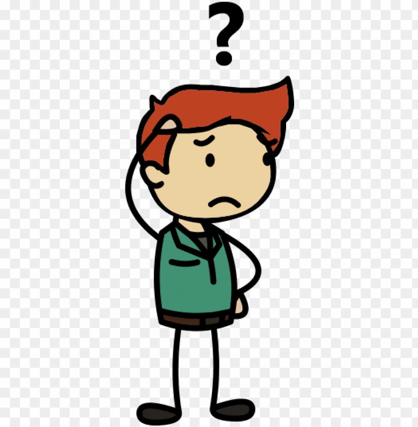 Transparent People Puzzled Confused Person Cartoon Png Image With Transparent Background Toppng