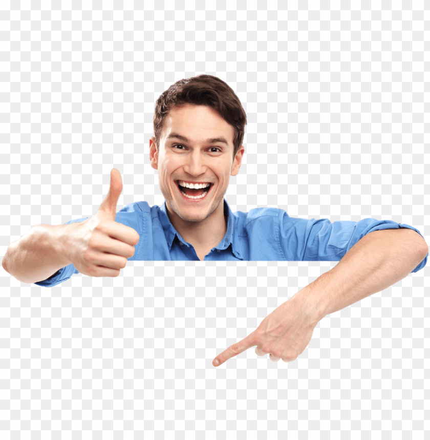 transparent person stock photo - person with thumbs up PNG image with transparent background@toppng.com