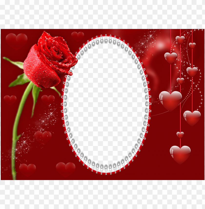 free PNG transparent red romantic frame with rose background best stock photos PNG images transparent