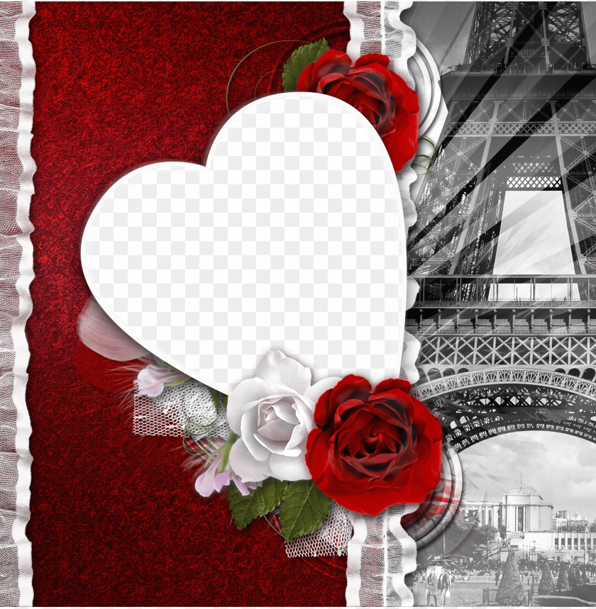 free PNG transparent romantic frame love in paris background best stock photos PNG images transparent