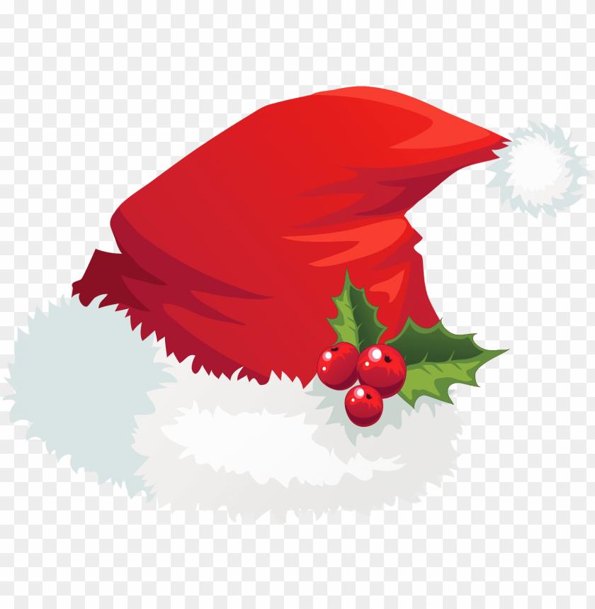 free PNG transparent santa hat with mistletoe png picture - santa hat clipart transparent background PNG image with transparent background PNG images transparent