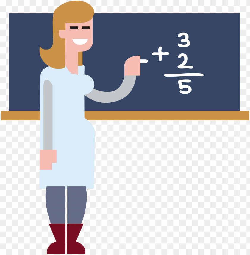 transparent teacher math - maths teacher clipart PNG image with transparent background@toppng.com