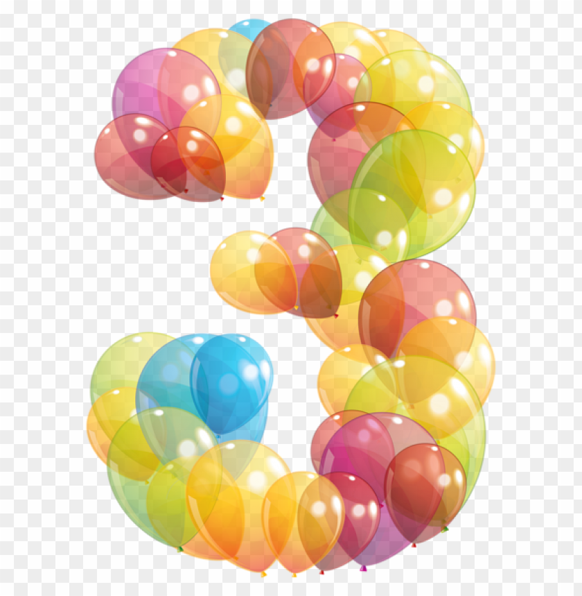 free PNG Download transparent three number of balloons clipart png photo   PNG images transparent