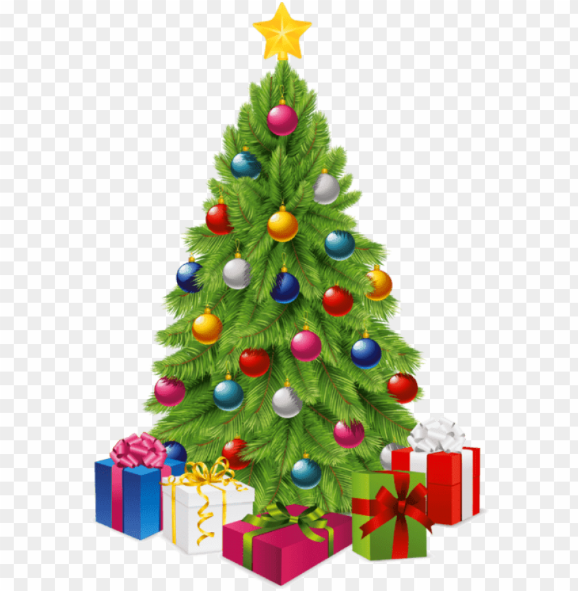 free PNG transparent tree with gift boxes png picture - christmas tree clipart clear background PNG image with transparent background PNG images transparent