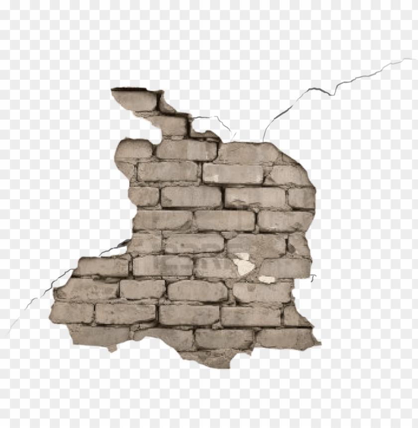 free PNG transparent tumblr your blog - broken brick wall PNG image with transparent background PNG images transparent