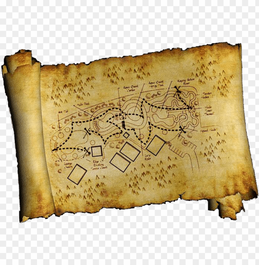 free PNG treasure map - treasure hunt map PNG image with transparent background PNG images transparent