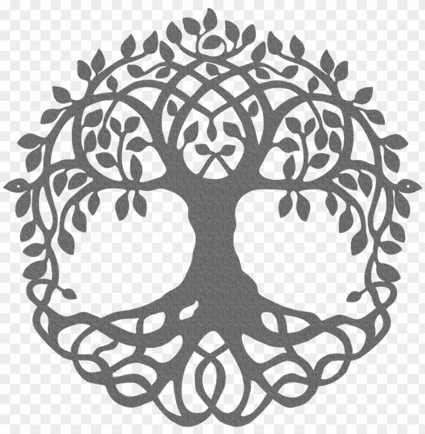 Tree Of Life Metal Wall Art Sign Black And White Tree Of Life Clip Art Png Image With Transparent Background Toppng