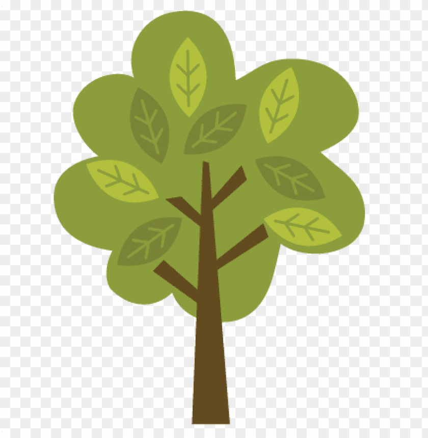 free PNG tree with leaves svg file for scrapbooking and cardmaking - cute woodland tree clipart PNG image with transparent background PNG images transparent