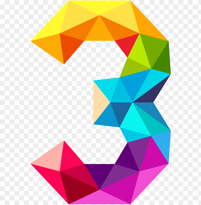 free PNG triangles number three png image gallery view - number 3 PNG image with transparent background PNG images transparent